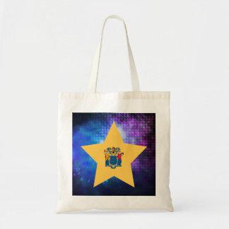 Estrella fresca de la bandera de New Jersey Bolsa Tela Barata