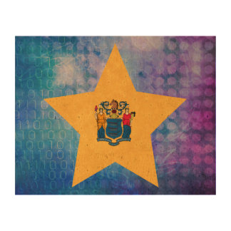 Estrella fresca de la bandera de New Jersey Papel De Corcho