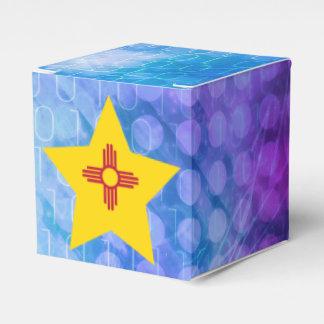 Estrella fresca de la bandera de New México Caja Para Regalo De Boda