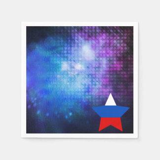 Estrella fresca de la bandera de Rusia Servilleta Desechable