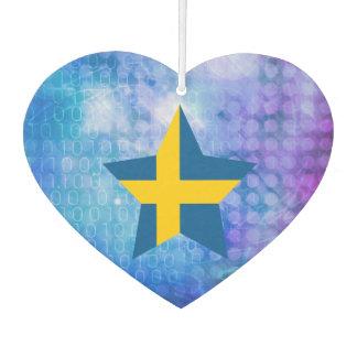 Estrella fresca de la bandera de Suecia