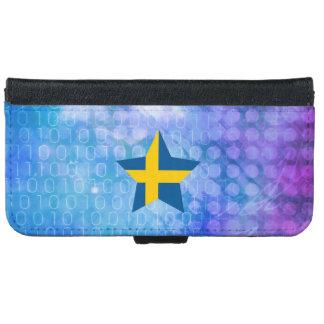 Estrella fresca de la bandera de Suecia Funda Cartera Para iPhone 6