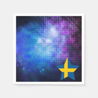 Estrella fresca de la bandera de Suecia Servilletas De Papel