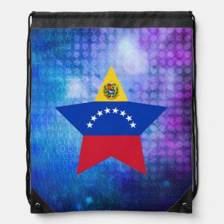 Estrella fresca de la bandera de Venezuela Mochila