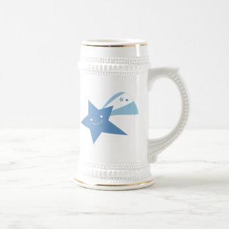 Estrella fugaz azul tazas de café