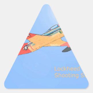 Estrella fugaz de Lockheed T33 Pegatina Triangular