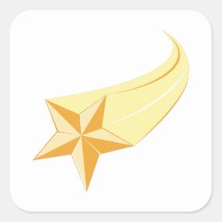 Estrella fugaz pegatina cuadrada