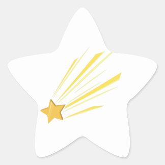 Estrella fugaz pegatina en forma de estrella