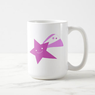 Estrella fugaz púrpura tazas