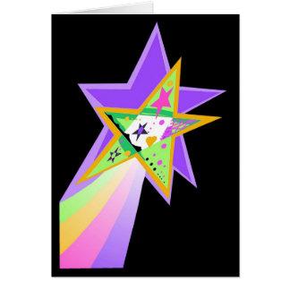 Estrella fugaz felicitación