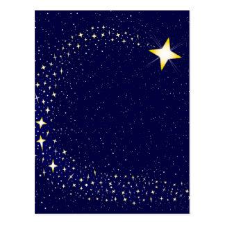 Estrella fugaz tarjetas postales