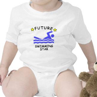 Estrella futura de la natación camisetas