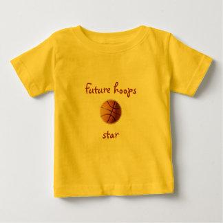 Estrella futura de los aros playera de bebé