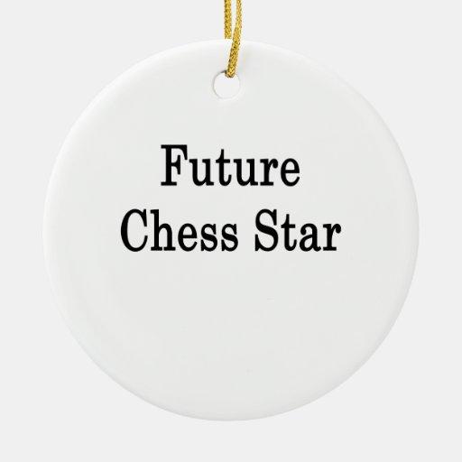Estrella futura del ajedrez adornos de navidad