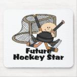 Estrella futura del hockey tapetes de ratones