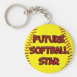 Estrella futura del softball llaveros