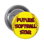 Estrella futura del softball pin
