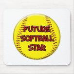 Estrella futura del softball tapete de ratones