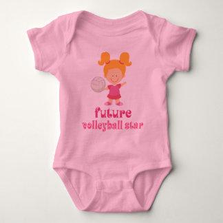 Estrella futura del voleibol (chicas) body para bebé