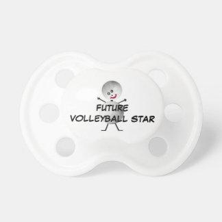 Estrella futura del voleibol chupetes para bebes