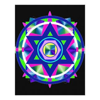 Estrella geométrica del vitral de David Membrete