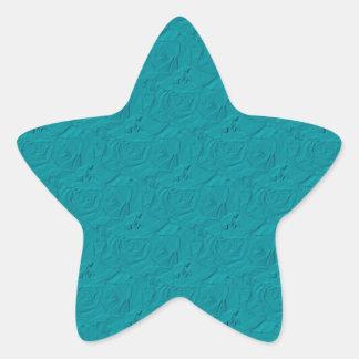 Estrella grabada en relieve Sickers del trullo de
