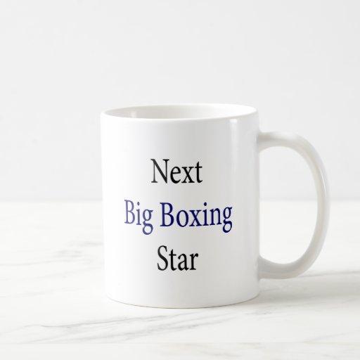 Estrella grande siguiente del boxeo tazas de café