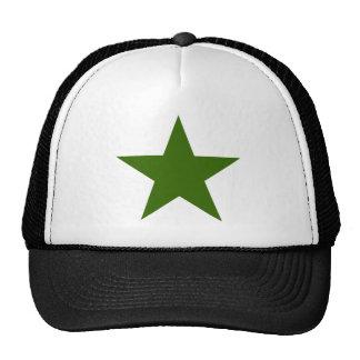 Estrella GreenDark los regalos de Zazzle del MUSEO Gorras