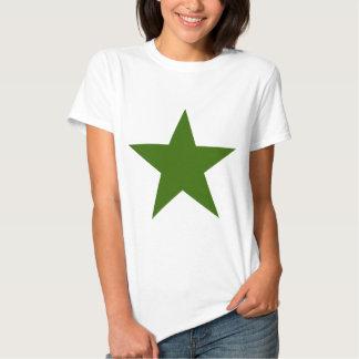 Estrella GreenDark los regalos de Zazzle del MUSEO Remera