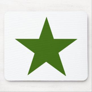 Estrella GreenDark los regalos de Zazzle del MUSEO Tapete De Raton