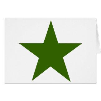 Estrella GreenDark los regalos de Zazzle del MUSEO Tarjeta De Felicitación