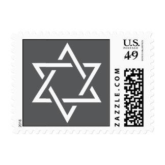 Estrella gris y blanca del sello de David para la