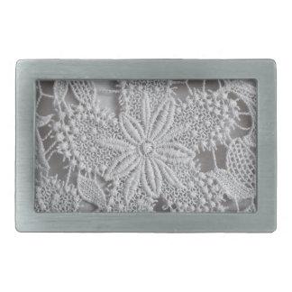 Estrella hecha punto/crocheted lindo del tapetito hebilla de cinturón rectangular