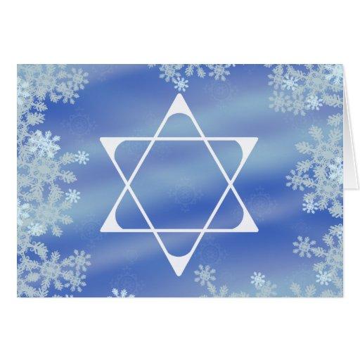 Estrella helada tarjeta de felicitación