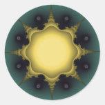 estrella ideal etiqueta redonda