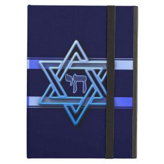 Estrella imponente de David y de chai en azul
