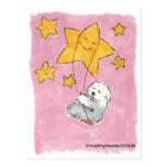 Estrella inglesa vieja del perro pastor tarjetas postales