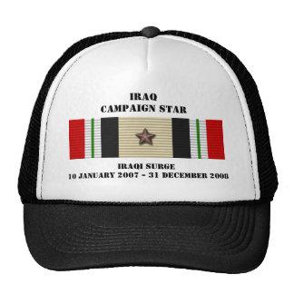 Estrella iraquí de la campaña de la oleada gorros