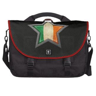 Estrella irlandesa de la bandera con el efecto de bolsas de ordenador