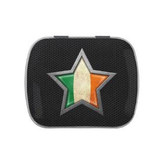 Estrella irlandesa de la bandera con el efecto de latas de caramelos