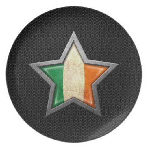 Estrella irlandesa de la bandera con el efecto de  plato de comida