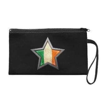 Estrella irlandesa de la bandera en negro