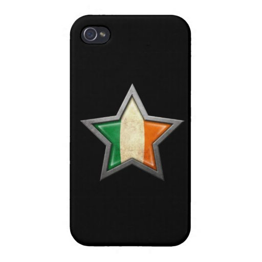 Estrella irlandesa de la bandera en negro iPhone 4 cobertura