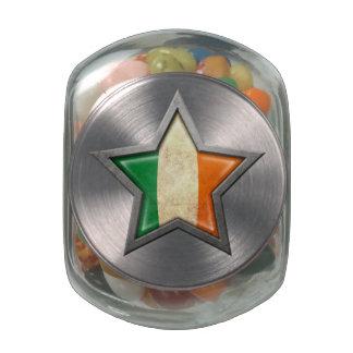 Estrella irlandesa de la bandera jarras de cristal