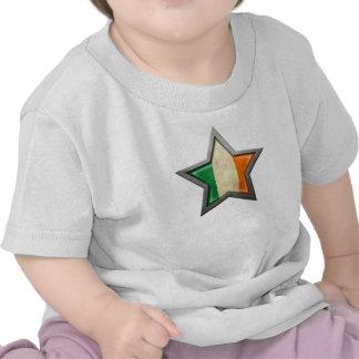 Estrella irlandesa de la bandera camisetas