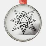 Estrella irradiada ocho ornamentos de navidad