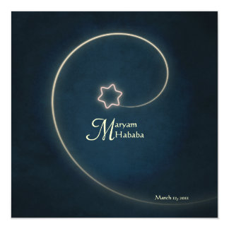 """Estrella islámica de la noche de Aqiqah del Invitación 5.25"""" X 5.25"""""""