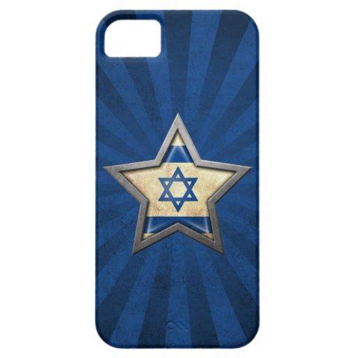 Estrella israelí de la bandera con los rayos de la iPhone 5 Case-Mate fundas