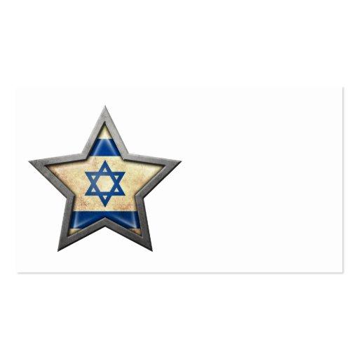 Estrella israelí de la bandera plantillas de tarjetas de visita