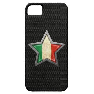 Estrella italiana de la bandera con el efecto de iPhone 5 fundas
